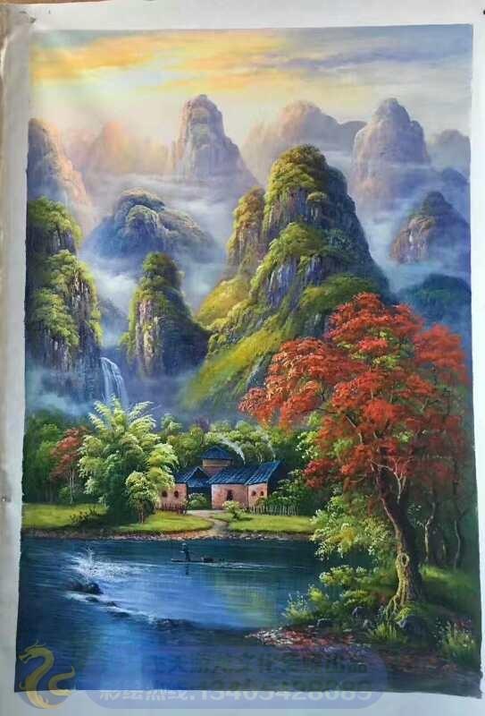 风景 竖幅 - 油画 - 青岛飞天游龙文化传媒有限公司